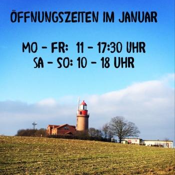 Öffnungszeiten im Januar
