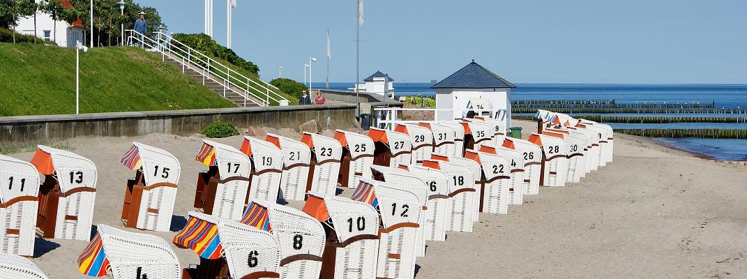Strandkorbvermietung im Ostseebad
